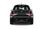 Straight rear view of 2019 MINI Cooper John-Cooper-Works-Hardtop Door Hatchback Rear View  stock images