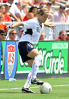 Megan Rapinoe holds the ball. The USA defeated Canada 2-0 at SAS Stadium in Cary, NC on Sunday, July 30, 2006.
