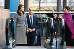 © Joel Goodman - 07973 332324. 06/12/2017 . Manchester , UK . The Duke And Duchess Of Cambridge, Prince William and Kate Middleton, and BBC's Alice Webb , attend the Children's Global Media Summit at the Manchester Central Convention Centre . Photo credit : Joel Goodman