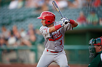 Peoria Chiefs Jonatan Machado (3) during a Midwest League game against the Fort Wayne TinCaps on July 17, 2019 at Parkview Field in Fort Wayne, Indiana.  Fort Wayne defeated Peoria 6-2.  (Mike Janes/Four Seam Images)