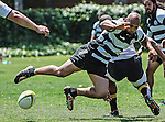 Long Beach, California, USA - April 28 : Belmont Shore vs. Sacramento Rugby action at USC - Long Beach in, Long Beach, California. .