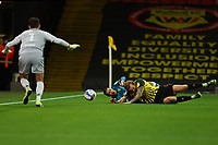 26th December 2020; Vicarage Road, Watford, Hertfordshire, England; English Football League Championship Football, Watford versus Norwich City; Emi Buendia of Norwich City fails too connect with the cross