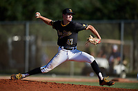 Carson Pillsbury during the WWBA World Championship at the Roger Dean Complex on October 21, 2018 in Jupiter, Florida.  Carson Pillsbury is a right handed pitcher from Inverness, Florida who attends Seven Rivers Christian High School and is committed to Florida.  (Mike Janes/Four Seam Images)