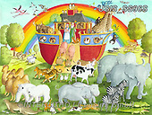 Ingrid, CUTE ANIMALS, LUSTIGE TIERE, ANIMALITOS DIVERTIDOS, puzzle, paintings+++++,USISSS96S,#ac#, EVERYDAY ,puzzle,puzzles, arche noah
