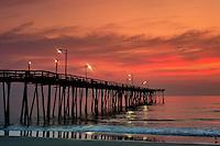 Fishing Pier sunrise, Nags Head, Outer Banks, North Carolina