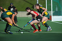 Action from the Wellington premier one women's hockey match between Hutt United and Victoria University at National Hockey Stadium in Wellington, New Zealand on Saturday, 8 May 2021. Photo: Dave Lintott / lintottphoto.co.nz