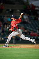 Pawtucket Red Sox relief pitcher Brandon Workman (44) delivers a pitch during a game against the Rochester Red Wings on May 19, 2018 at Frontier Field in Rochester, New York.  Rochester defeated Pawtucket 2-1.  (Mike Janes/Four Seam Images)