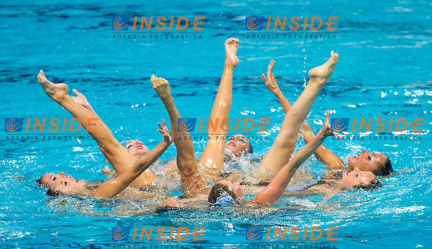ESP - Spain<br /> BASIANA Clara CABELLO Alba<br /> CAMACHO Clara JIMENEZ Cecilia<br /> KLAMBURG Paula LEVY Sara<br /> MAS Meritxell RAMIREZ Paula<br /> SALVADOR Cristina SANCHEZ-GUARDAMINO Itziar<br /> Day 9 01/08/2015<br /> XVI FINA World Championships Aquatics<br /> Synchro<br /> Kazan Tatarstan RUS July 24 - Aug. 9 2015 <br /> Photo Pasquale Mesiano/Deepbluemedia/Insidefoto