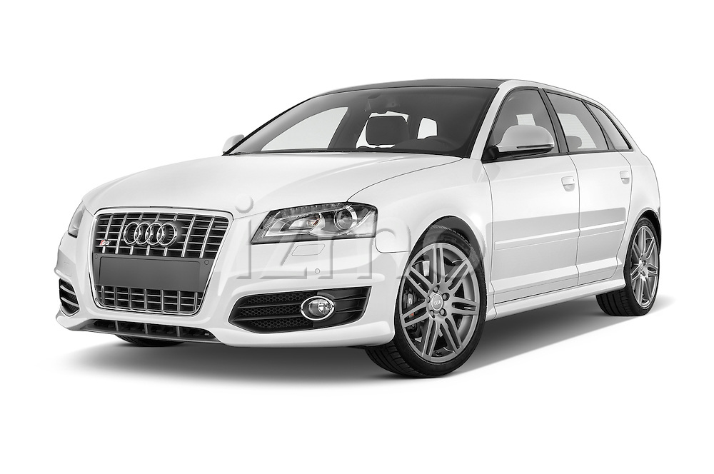 Low aggressive front three quarter view of a 2009 - 2013 Audi S3 Sportback 5-Door Hatchback 4WD.