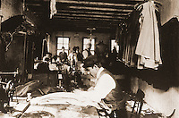 "Historical Views:  Lewis Hine Photograph,  ""Old-time Sweatshop, New York City, 1912"".   Photo '78.  Reference only."