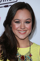 SANTA MONICA, CA, USA - OCTOBER 08: Hayley Orrantia arrives at the Vevo CERTIFIED SuperFanFest held at Barkar Hangar on October 8, 2014 in Santa Monica, California, United States. (Photo by David Acosta/Celebrity Monitor)