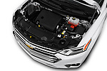 Car stock 2018 Chevrolet Traverse High Country 5 Door SUV engine high angle detail view