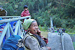 Woman on Bridge, Nepal