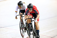 Ellesse Andrews and Olivia Podmore compete in the Women Elite Sprint race  during the 2020 Vantage Elite and U19 Track Cycling National Championships at the Avantidrome in Cambridge, New Zealand on Friday, 24 January 2020. ( Mandatory Photo Credit: Dianne Manson )