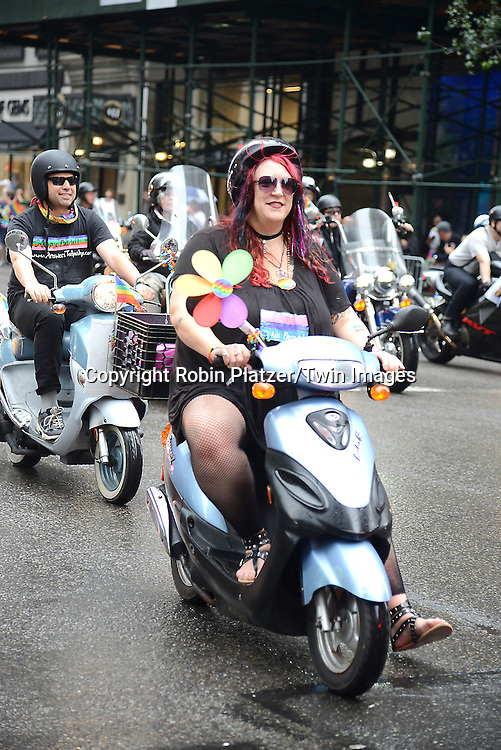 Motor cyclists  attends the 2015 NYC Pride March on June 28, 2015 on Fifth Avenue in New York City.<br /> <br /> photo by Robin Platzer/Twin Images<br />  <br /> phone number 212-935-0770
