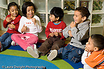 Education preschool ages 3-4 music song children singing song with hand motions at circle time