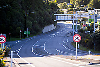 Newlands Rd by the SH1 motorway onramp at 9am on Wednesday during lockdown for the COVID19 pandemic in Wellington, New Zealand on Wednesday, 15 April 2020. Photo: Dave Lintott / lintottphoto.co.nz