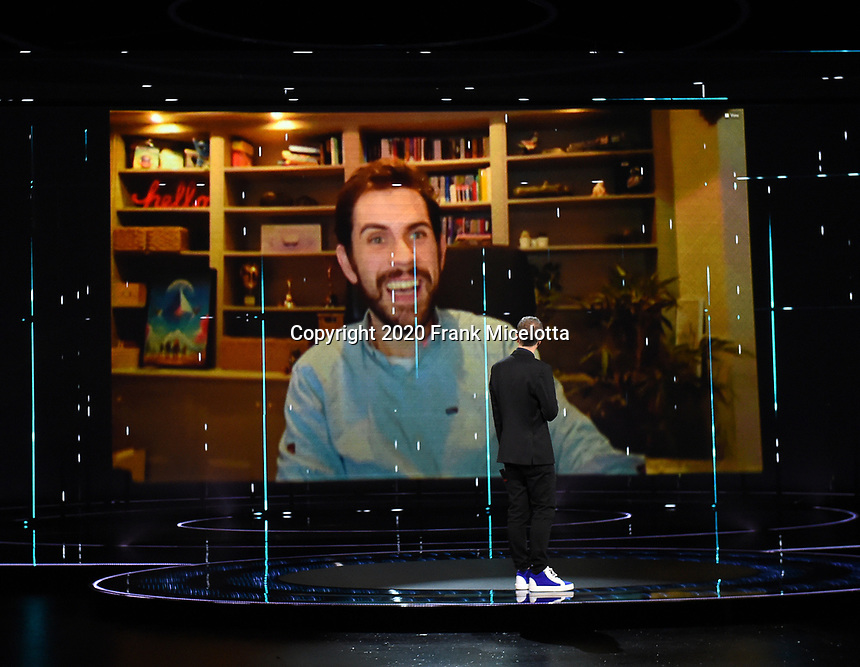 "HOLLYWOOD, CA - DECEMBER 10: Sean Murray accepts the award for Best Ongoing Game for ""No Man's Sky"" on ""The Game Awards 2020"" in Hollywood, California on December 10, 2020. (Photo by Frank Micelotta/PictureGroup)"