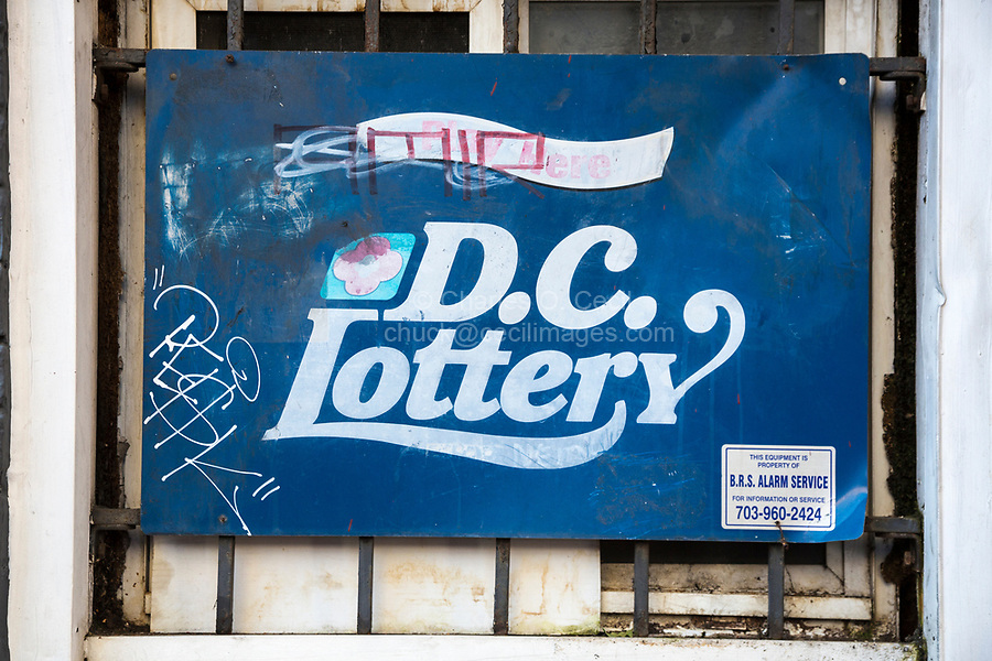 DC Lottery Sign, H Street NW, Chinatown, Washington DC, USA