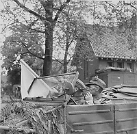 German negotiators with white flag during negotiations until the capitulation in Wageningen, Holland,May 1945