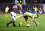 Hearts v St Johnstone…..14.12.19   Tynecastle   SPFL<br />Craig Halkett and Callum Hendry<br />Picture by Graeme Hart.<br />Copyright Perthshire Picture Agency<br />Tel: 01738 623350  Mobile: 07990 594431
