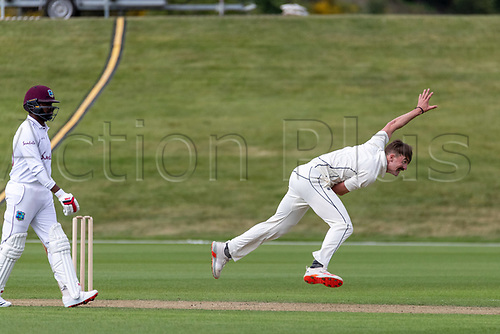 20th November 2020; John Davies Oval, Queenstown, Otago, South Island of New Zealand. NZ A's Blair Tickner bowling during New Zealand A versus  West Indies