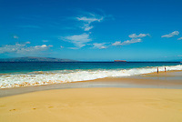 The beautiful white sand Makena Beach on Maui, also known as Big Beach.