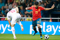 Spain's Diego Costa (r) and Switzerland's Blerim Dzemaili during international friendly match. June 3,2018.(ALTERPHOTOS/Acero) /NortePhoto.com