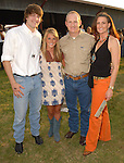 Andrew Bean and Caroline Dudley with Bret and Laurie Sanders at the Cattle Baron's Ball at the George Ranch Saturday April 28,2007.(Dave Rossman/For the Chronicle)