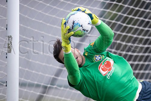 10th November 2020; Granja Comary, Teresopolis, Rio de Janeiro, Brazil; Qatar 2022 qualifiers; Ederson of Brazil during training session in Granja Comary