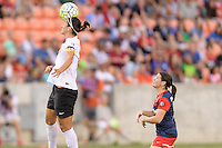 Houston, TX - Sunday Oct. 09, 2016: Abby Erceg, Diana Matheson during the National Women's Soccer League (NWSL) Championship match between the Washington Spirit and the Western New York Flash at BBVA Compass Stadium. The Western New York Flash win 3-2 on penalty kicks after playing to a 2-2 tie.