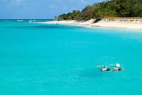 Snorkelers at Buck Island. St Croix.US Virgin Islands