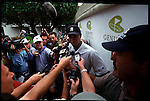 Tiger Woods answers questions from the press at the Genuity Open at Doral in Miami, Fl.
