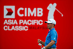 Chez Reavie in action during a practice round during the CIMB Asia Pacific Classic 2011.  Photo © Raf Sanchez / PSI for Carbon Worldwide