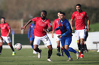 Yann Songo'o of Morecambe during Maldon & Tiptree vs Morecambe, Emirates FA Cup Football at the Wallace Binder Ground on 8th November 2020