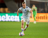 WASHINGTON, DC - MAY 13: Fabian Herbers #21 of Chicago Fire FC dribbles during a game between Chicago Fire FC and D.C. United at Audi FIeld on May 13, 2021 in Washington, DC.