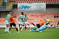 22nd August 2020; Tannadice Park, Dundee, Scotland; Scottish Premiership Football, Dundee United versus Celtic; Albian Ajeti of Celtic scores the opening goal to put his side 0-1 ahead in the 85th minute