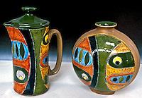 Peças de cerâmica equatoriana. Foto de Manuel Lourenço.