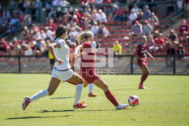 STANFORD, CA - SEPTEMBER 12: Belle Briede during a game between Loyola Marymount University and Stanford University at Cagan Stadium on September 12, 2021 in Stanford, California.