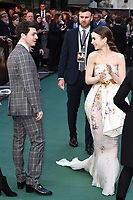 "Anthony Boyle and Lily Collins<br /> arriving for the ""TOLKIEN"" premiere at the Curzon Mayfair, London<br /> <br /> ©Ash Knotek  D3499  29/04/2019"