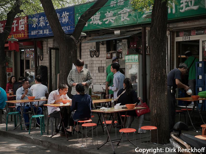 Straßenrestaurant in Peking, China, Asien<br /> Street restaurant, Beijing, China, Asia