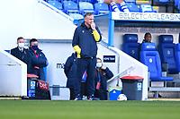 A nervous Stoke City ManagerMichael O'Neill during Reading vs Stoke City, Sky Bet EFL Championship Football at the Madejski Stadium on 7th November 2020