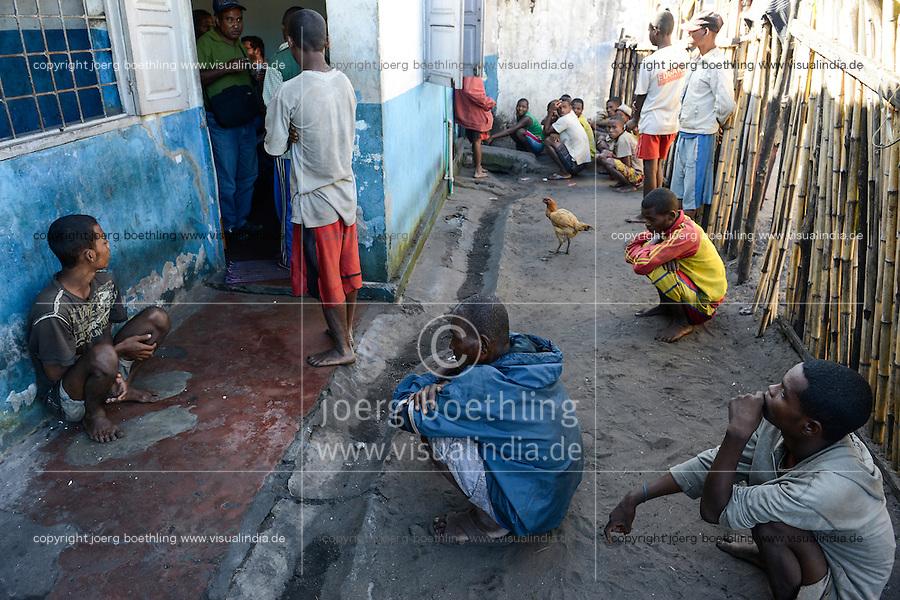 MADAGASCAR, Mananjary, prison / MADAGASKAR, Mananjary, Gefaengnis, Krankenstube von Ordensschwestern betrieben