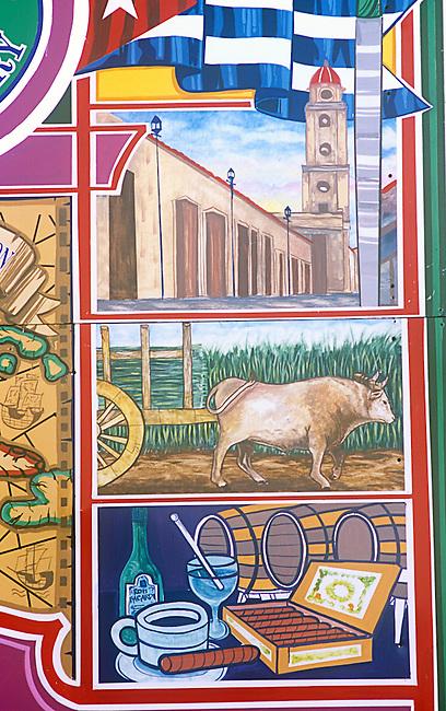 Mural, Versailles Restaurant, Little Havana, Miami, Florida