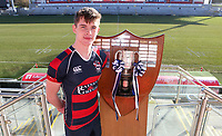 Monday 27th January 2020 | Ulster Schools' Cup Draw<br /> <br /> Ballymena Academy captain Matthew Corr at the draw for the Ulster Schools' Cup Quarter Finals held at Kingspan Stadium, Ravenhill Park, Belfast, Northern Ireland. Fixtures to be played on or before 8 Feb 2020.  Photo credit - John Dickson DICKSONDIGITAL