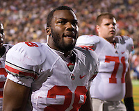 06 October 2007: Ohio State running back Chris Wells (28)..The Ohio State Buckeyes defeated the Purdue Boilermakers 23-7 on October 06, 2007 at Ross-Ade Stadium, West Lafayette, Indiana.