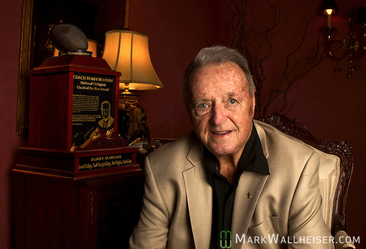 TALLAHASSEE, FL - December 18, 2013:   Florida State Seminoles legendary head coach Bobby Bowden in his home in Tallahassee, Florida December 17, 2013.  Bowden is the winningest coach in Division 1A NCAA football.  CREDIT: Mark Wallheiser for the New York Times