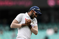 8th January 2021; Sydney Cricket Ground, Sydney, New South Wales, Australia; International Test Cricket, Third Test Day Two, Australia versus India; Jasprit Bumrah of India catches the ball to dismiss Matthew Wade of Australia