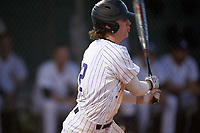 Northwestern Wildcats shortstop Jack Dunn (2) at bat during a game against the Saint Leo Lions on March 4, 2016 at North Charlotte Regional Park in Port Charlotte, Florida.  Saint Leo defeated Northwestern 5-3.  (Mike Janes/Four Seam Images)