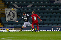 27th March 2021; Dens Park, Dundee, Scotland; Scottish Championship Football, Dundee FC versus Dunfermline; Craig Wighton of Dunfermline Athletic shoots and scores for 2-0 in the 5th minute